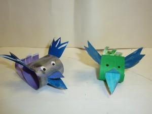 Поделки из бумаги. Фигурки птиц.