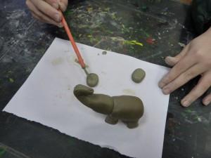 Лепка из глины слона. Мастер класс 6