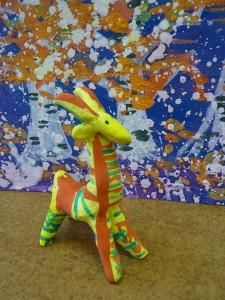 лепим с детьми филимоновскую игрушку - козлик