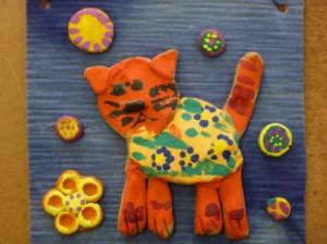 кошка керамика
