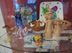 поделки из глины на выставке