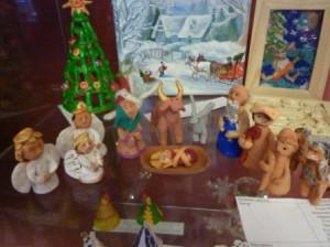 поделки из глины Рождество