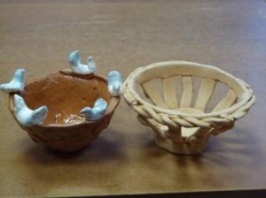 поделки из глины - вазы
