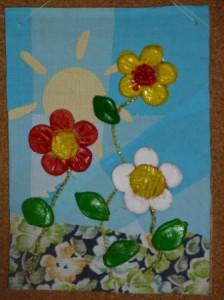 цветы, сделанные в гипсовых формах