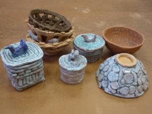 шкатулки и вазы-пиалы