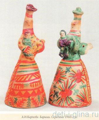 филимоновская игрушка - барыни