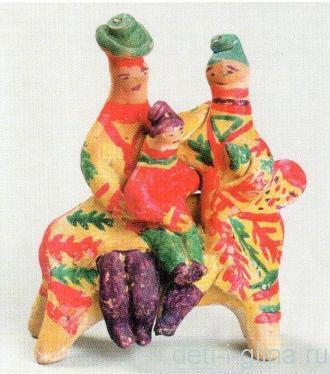 филимоновская игрушка - семья