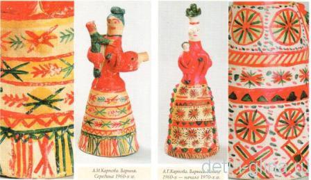 филимоновская игрушка - орнаменты