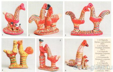 филимоновские игрушки -птицы