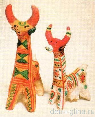 филимоновская игрушка- коровы