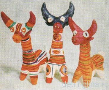 филимоновская игрушка - коровы