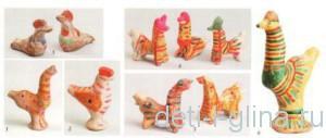филимоновская игрушка-свистулька
