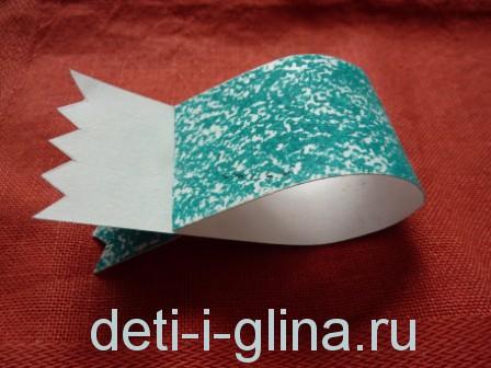 птичка из бумаги - хвостик