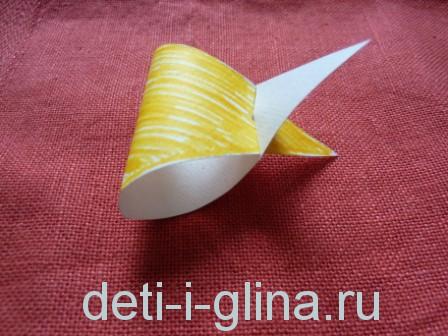 птичка из бумаги - голова