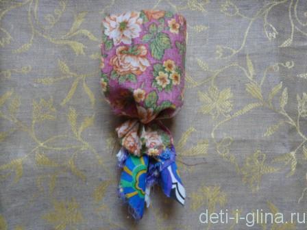 вепсская кукла - приматываем юбку